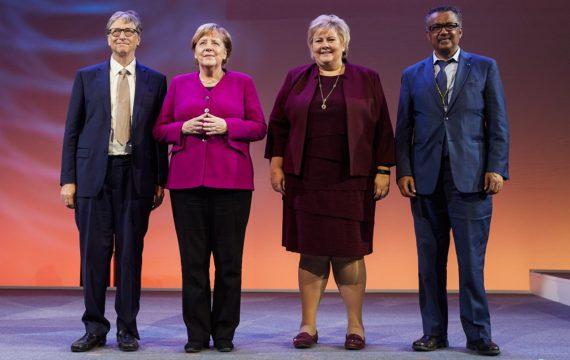 Bill Gates, Angela Merkel, Erna Solberg, Tedros Adhanom Ghebreyesus ICT&health